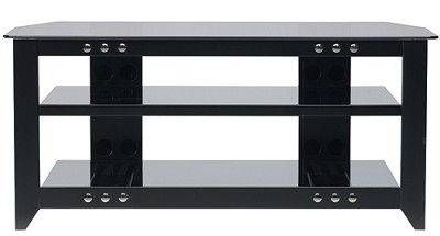 NFV249 - Natural Three Shelf A/V Stand for TVs up to 52` (Black Finish)