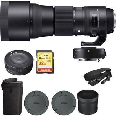 150-600mm F5-6.3 Contemporary Lens & Teleconverter for Canon w/ Dock Kit