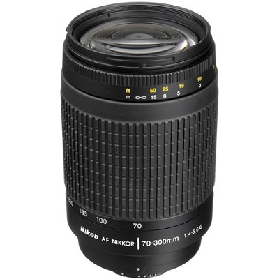 70-300mm F/4-5.6G AF Zoom-Nikkor Lens - FACTORY REFURBISHED