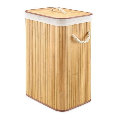 Rect Bamboo Hamper Natural