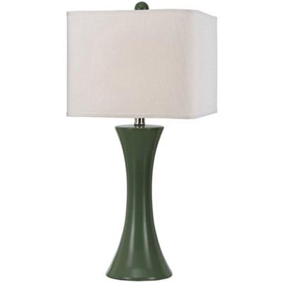 Madison Ceramic Table Lamp in Green - 8557-TL