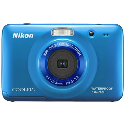 COOLPIX S30 10.1MP 2.7 LCD Waterproof Digital Camera - Blue (Refurbished)