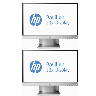 2 Pavilion 20xi 20` IPS LED Backlit Monitors Bundle