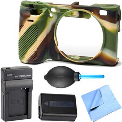 EasyCover Silicone Protection Cover for Sony Alpha a6500- Camo