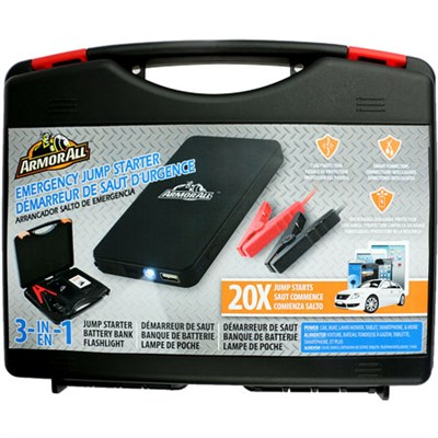 Jump Starter Kit with 6,000mAh Battery Bank - OPEN BOX