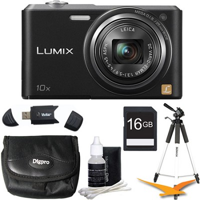 DMC-SZ3 16.1 MP Compact Digital Camera with 20x Intelligent Zoom Black Kit