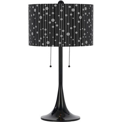 Drizzle Table Lamp-Black Shade - 8438-TL