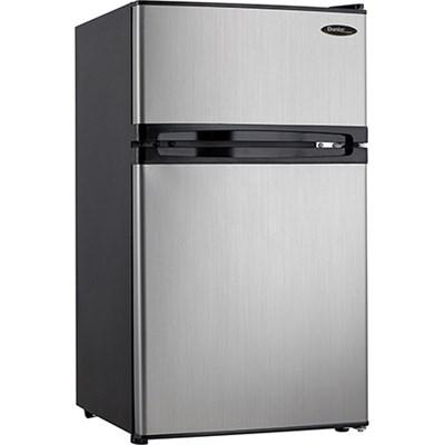3.1 Cu. Ft. 2 Door Compact Refrigerator in Steel - DCR031B1BSLDD