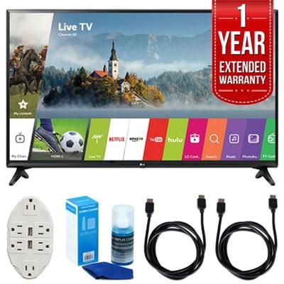 LJ550B Series 32` Smart LED HDTV (2017 Model) w/ Extended Warranty Bundle