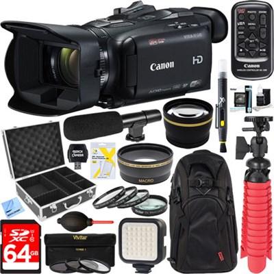 VIXIA HF G40 Camcorder w/ 20x HD Zoom Lens + 64GB Mini Microphone Deluxe Bundle