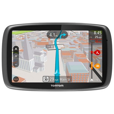 GO 600 Portable 6` Inch Touch Screen Vehicle GPS with 3D Maps