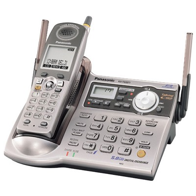 KX-TG5571M 5.8 GHz Expandable Digital Cordless Answering System with Talking Cal