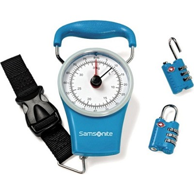 Luggage Scale and Combination Lock Kit - Teal