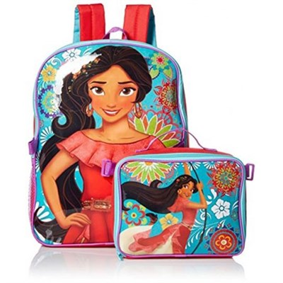 Disney Princess Elena 16 in Backpack Backpack With Lunch Kit