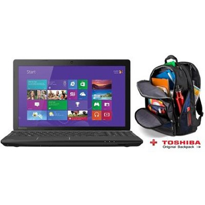 Satellite 15.6` C55D-A5163 Notebook PC - AMD E-Series E1-2100 Process + Backpack