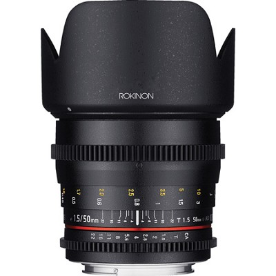 DS 50mm T1.5 Full Frame Wide Angle Cine Lens for Canon EF Mount