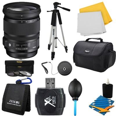 24-105mm F/4 DG OS HSM Lens for Canon Bundle