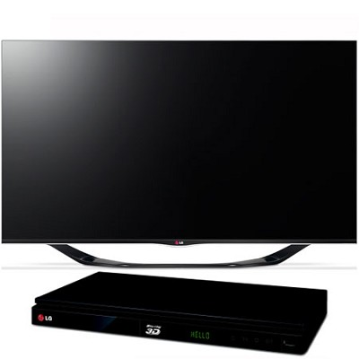55` 1080p 3D Smart TV 120Hz Dual Core 3D Edge LED TV with  Blu-Ray Player
