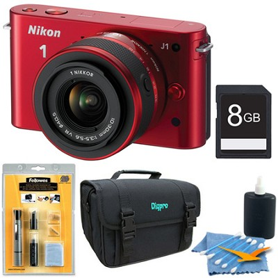 1 J1 SLR Red Digital Camera w/ 10-30mm VR Lens Deluxe Edition