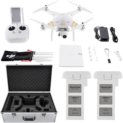 Phantom 3 4K Quadcopter Drone with 4K Camera and 3-Axis Gimbal Flight Bundle