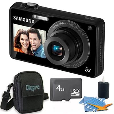ST700 Dualview Black Digital Camera 4 GB Bundle