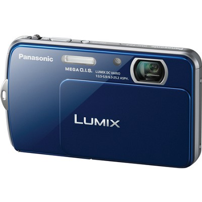 Lumix DMC-FP7 16MP Blue Compact Digital Camera w/ 3.5` Touch Screen
