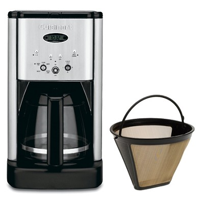 DCC-1200 Brew Central 12 Cup Programmable Coffeemaker Gold Tone Filter Bundle