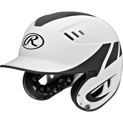 Velo Two-Tone Senior Home Batting Helmet - White/Black