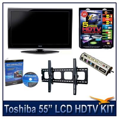 55` 1080p LCD HDTV + Hook-up Kit + Power Protection + Calibration + Tilt Mount