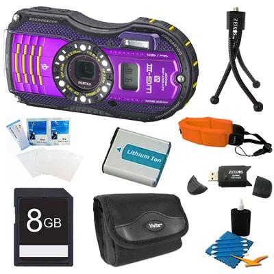 WG-3 Purple Digital Camera 8GB Bundle