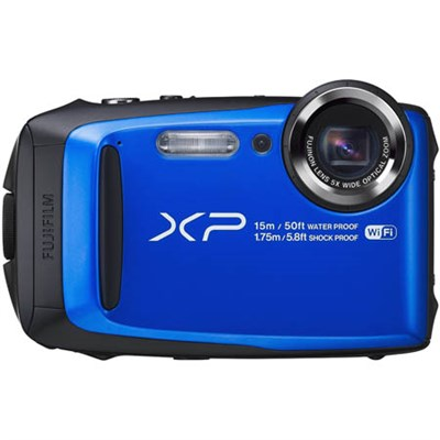 FinePix XP90 16 MP Waterproof Digital Camera with 3-inch LCD - Blue