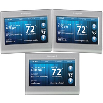 3-Pack RTH9580WF WiFi 7Day Programmable 9000 Touchscreen Smart Thermostat Silver