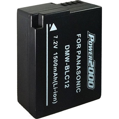 BLC12 Replacement Battery for Panasonic BLC12 (Black)