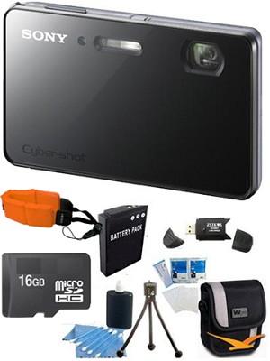 DSC-TX200V - 18.2 MP Camera Waterproof 3.3` OLED (Silver) Ultimate Bundle