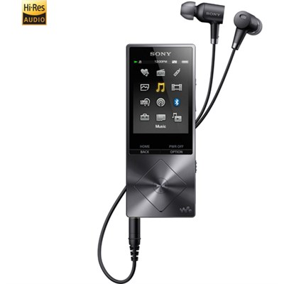 NWA26HN 32GB Hi-Res Walkman Music Player w/Noise Cancelation - Blk - OPEN BOX