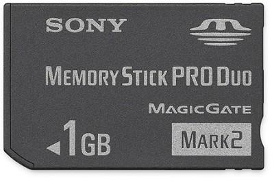 1GB Memory Stick PRO Duo  Mark 2 Media - {MS-MT1G}