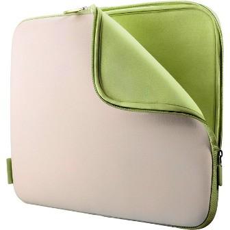 Neoprene Notebook Sleeve for Notebooks up to 15.4`  Dove/Tarragon