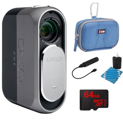 ONE 20.2MP Digital Connected Camera for iPhone & iPad + 64GB Memory Bundle