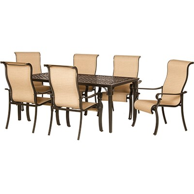 Brigantine 7 Piece Outdoor Dining Set with Cast Top Table - BRIGANTINE7PC