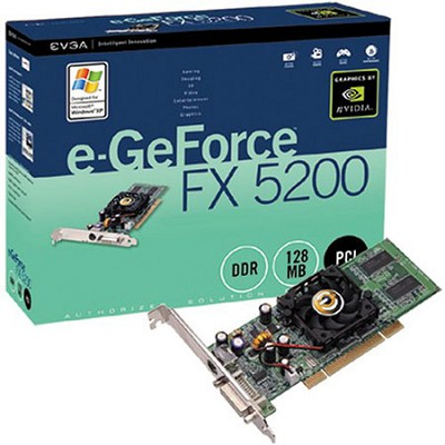 GeForce FX5200 128MB DDR PCI Graphics Card (128-P1-N309-LX)