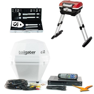 DISH Tailgater Portable Satellite TV & ViP Receiver Ultimate Tailgater Bundle