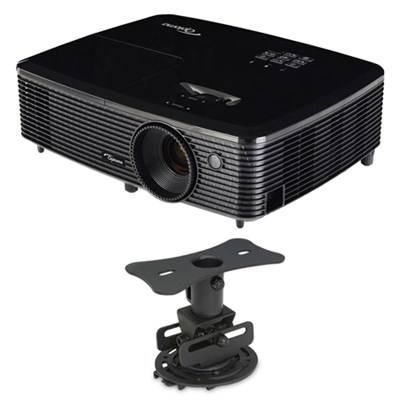 HD142X Full HD 1080p 3D DLP Home Theater Projector w/ Mustang Low Profile Mount