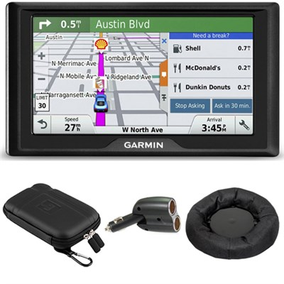 Drive 50 GPS Navigator (US) 010-01532-0D Soft Case + Mount + Car Charger Bundle