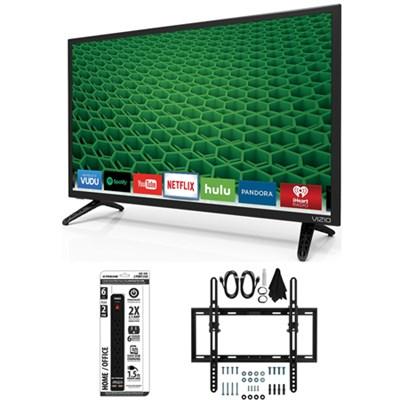 D28h-D1 - D-Series 28-Inch Full Array LED Smart TV Flat + Tilt Wall Mount Bundle