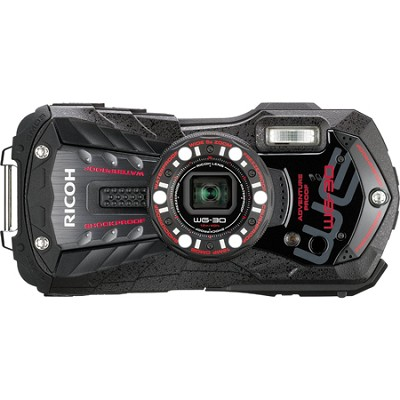 WG-30 16 MP Waterproof Digital Camera with 3-Inch LCD - Ebony Black
