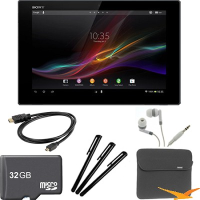 Xperia Black 10.1` 16GB Tablet Z 32GB Memory Card Bundle