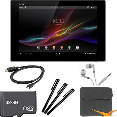 Xperia Black 10.1` 16GB Tablet Z 32GB Memory Card Bundle