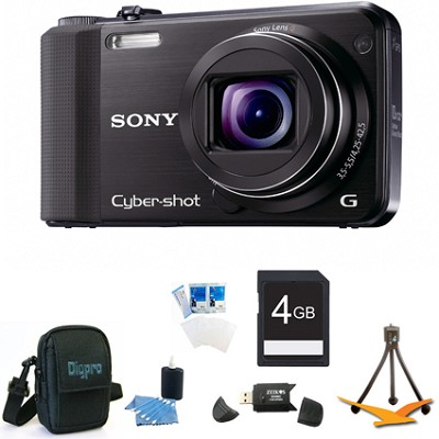 Cyber-shot DSC-HX7V Black Digital Camera 4GB Bundle