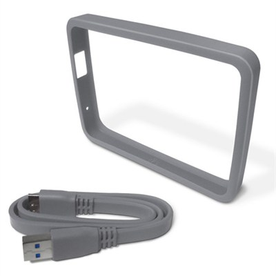 1TB Smoke Hard Drive Case with Grip