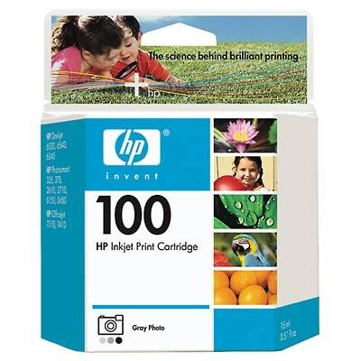 #100 Gray Photo Inkjet Printer Cartridge 15 ml.